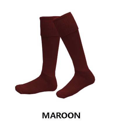 football-socks-maroon